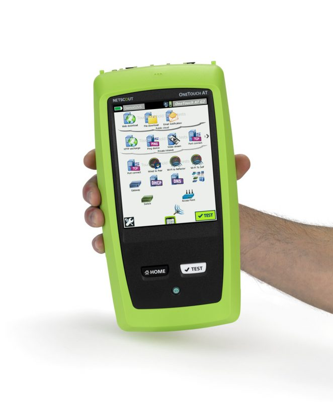 Netscout OneTouch AT in hand