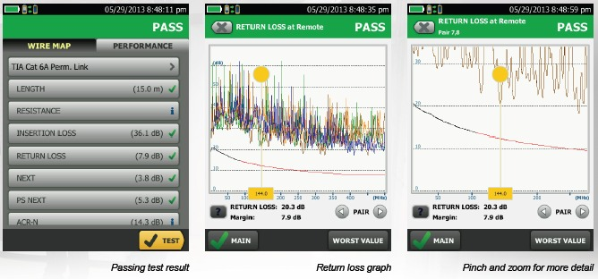 Fluke Networks DSX Screenshots