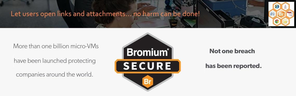 Bromium homepage Ad