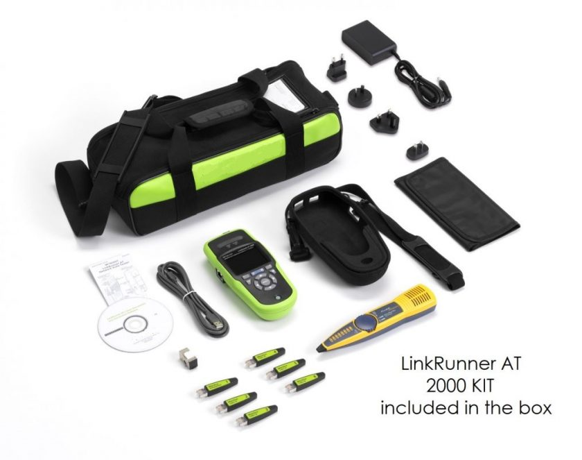 LinkRunner AT 2000 KIT included in the box