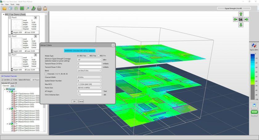 AirMagnet Survey Multifloor Example