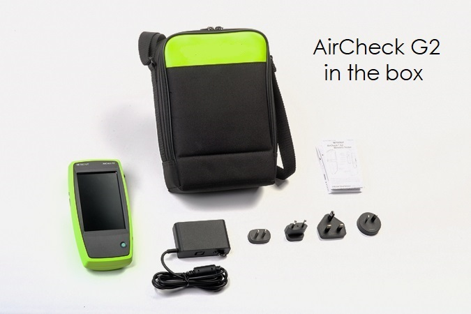 AirCheck G2 included in the box