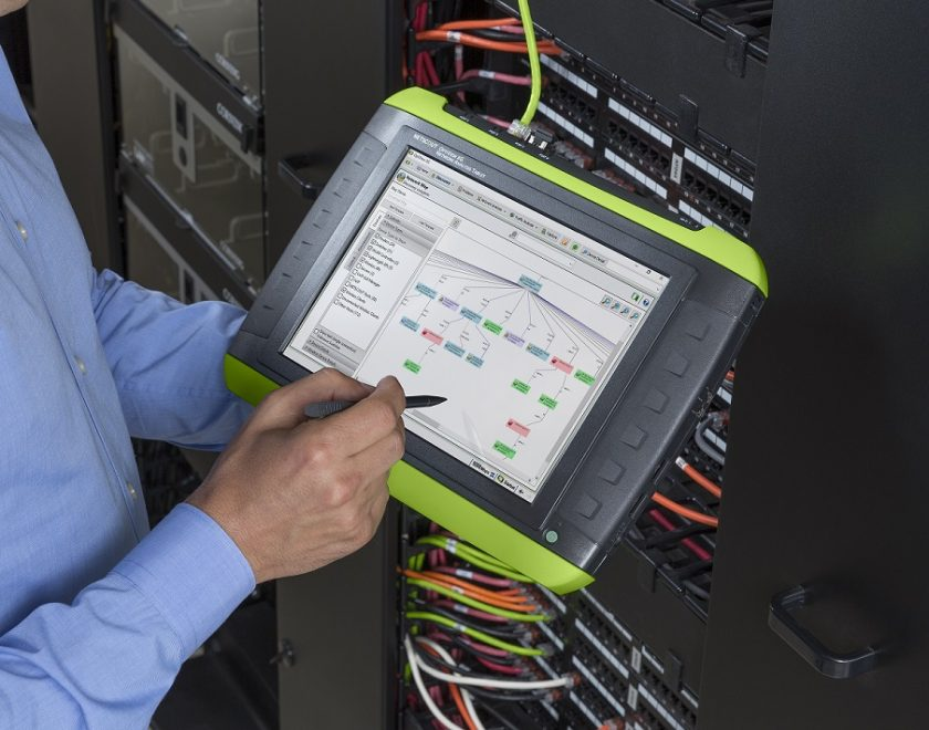 Netscout OptiView XG in hand