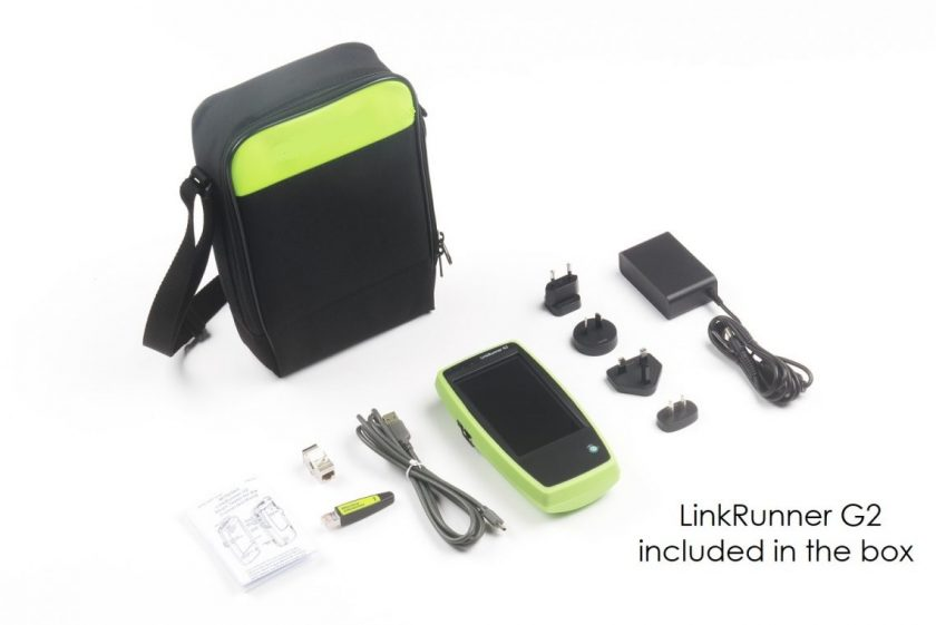 LinkRunner G2 included in the box