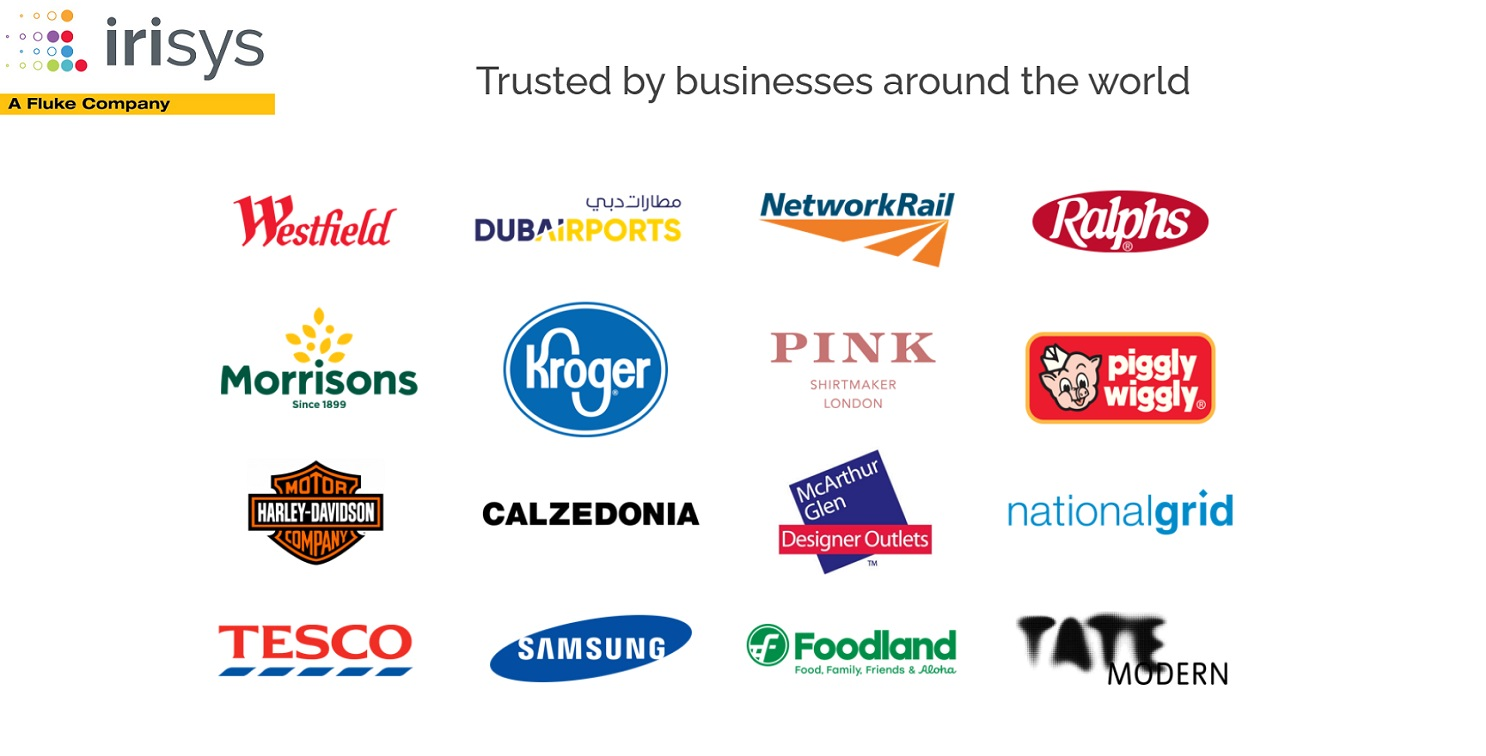 Irisys and Fluke Logo and Customer logos